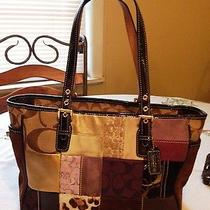 Coach Holiday Shopper Tote Handbag Vgc Authentic Photo