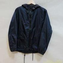 Coach Hoodet Nylon Jacket Dark Blue Men's Jacket Q0495 Photo