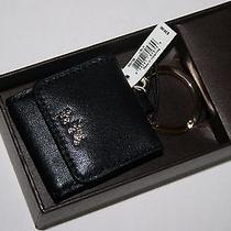 Coach Horse and Carriage Leather Picture Frame Key Ring 63073b Black Photo