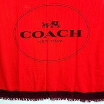 Coach Horse and Carriage Logo Oversized Square 50x50 Red Wool Scarf/shawl/wrap Photo