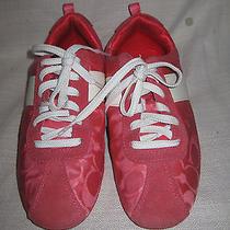 Coach Hot Pink Hadley 7.5 M Fashion Tennis Shoes Sneakers Photo