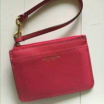 Coach Hot Pink Id Wristlet Mini Wallet Coin Purse Photo