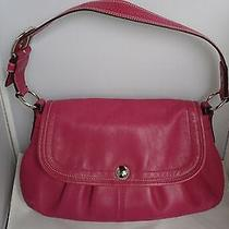 Coach Hot Pink Leather Shoulder Bag Tote Purse Photo
