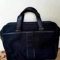 Coach Hudson Black Signature Laptop Bag Photo