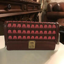 Coach Hutton Clutch With Weaving B4/confetti Pink Multi Msrp375 Photo