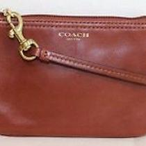 Coach Ipod Iphone Clutch Mini Bag Wristlet Pouch Cognac 48179 or Black Photo