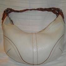 Coach Ivory Leather Hobo Satchel Handbag Photo