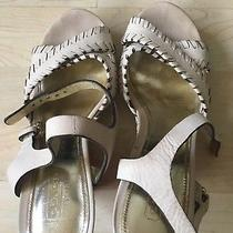 Coach Ivory Platform Sandals Sz. 7 Photo