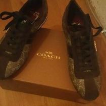 Coach Ivy Logo Signature Sneaker Size 65  Photo