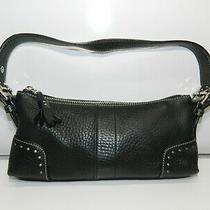 Coach J04s-5052 Pebbled Leather Small Shoulder Purse Black Photo