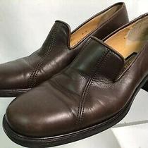 Coach J331 Wos Us 6 B Brown Leather Slip-on Loafer Heels Casual Work Shoes Photo