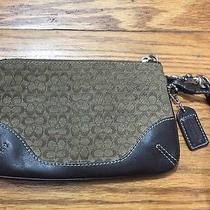 Coach Jacquard Print Wristlet Photo