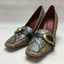 Coach Jade Loafer  23cm  Size 23cm Brown Fashion Heels 572 From Japan Photo