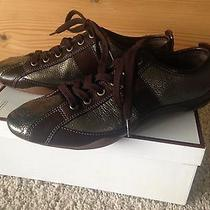 Coach Janae Metallic Bronze/brown Sneakers Womens Size 8 Photo