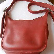Coach Janice's Legacy Shoulder Bag Burgundy Red Leather Handbag C0060-9950 as Is Photo