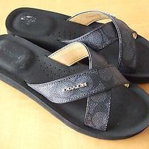 Coach Janine Women's Slide Strap Sandals Photo