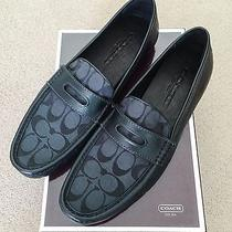 Coach Jarad Neal Signature Loafers Mens Shoes Q3111 Graphite Black Sz 9.5 M Nib Photo