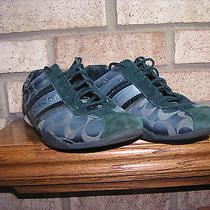 Coach Jayme 9m Used Worn Navy Blue Cyan Sneakers Photo