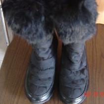 Coach Joyous Boots Black With Fur Cuffs Size 5.5 Photo