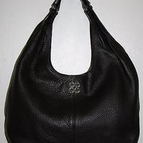 Coach Julia Mahogany Brown Pebbled Leather Hobo Handbag 14966 Euc Photo