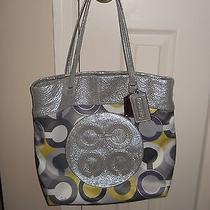 Coach Julia Perry Opart Scarf Print Tote Bag Handbag C1020-14970 Photo