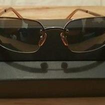 Coach Julia  S313 Rimless Brown Tint  Lenses Silver Frames Sunglasses Photo