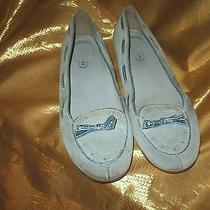 Coach Juliana Blue Suede Flats Sz 8.5m in Good Preloved Condition Photo