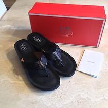 Coach Juliet Black Wedge Logo Flip Flop Sandal-9.5 Bought at Macys Worn Once Photo