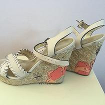 Coach Justeen Grainy Leath Sandals Size 7 Width M Photo