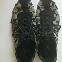 Coach Katelyn Sneakers Size 9.5 Black Q170 Photo