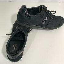 Coach Katelyn Women Black Suede Sneakers Latherware Lather Size 8.5m Photo