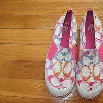 Coach Kaycee Signature Canvas Slip on Fashion Sneaker shoes.size 8.5b.defect Photo