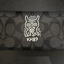 Coach Keith Haring Black Gray Signature Wallet Phone Case Nwt Photo