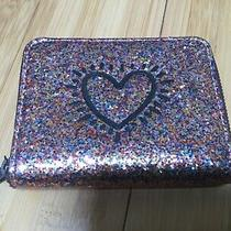 Coach Keith Haring Pink Glitter Heart Wallet Photo