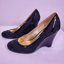 Coach Kerryann Black Logo Platforms Wedges Heels Shoes Women's Size 7.5 B Photo