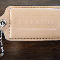 Coach Key Chain Fob Ring Charm Hang Tag Natural Leather Photo