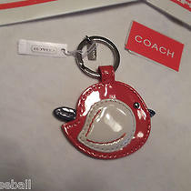 Coach Key Chain Red Patent Leather Bird  New With Tags So Cute Photo