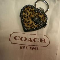 Coach Key Fob Ocelot Leopard Heart Picture Frame New Photo