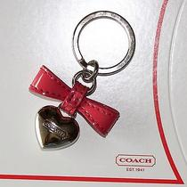 Coach Key Fob Ring Heart Photo
