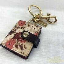 Coach Key Ring Bag Charm White Pink With Box & Protective Bag Authentic Vintage Photo