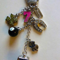 Coach Key Ring/key Fob-Lucky Mix 8 Ball-7-Clover Horseshoe Dice Dollar Sign Photo
