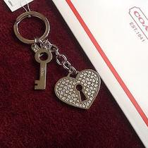 Coach  Key to Your Heart  Silver Heart & Key Keyring Keychain Fob/bag Accent Photo