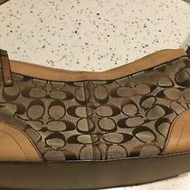 Coach Khaki/brown Signature C Small Shoulder Bag Photo