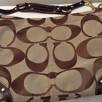 Coach Khaki Handbag Tote Bag Purse No. E0873-12873 Authentic  Photo