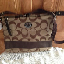 Coach Khaki/mahogany Handbag--- Nwt Photo