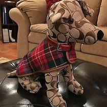 Coach Khaki Signature Stuffed Collectible Toy Dog 8443 Photo