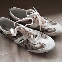 Coach Khaki Sneakers Size 7.5 Photo