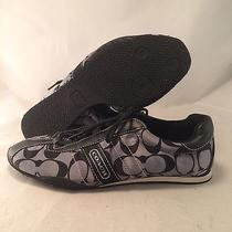 Coach Kirby Signature Black Sateen Sneaker - Q999 - Women's Size 7.5m - Great Photo