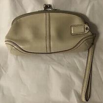 Coach Kisslock Leather Wristlet Wallet Photo