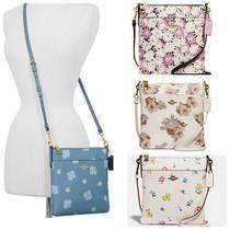 Coach Kitt Floral Pint Leather Zip  Messenger Crossbody Bag  Photo